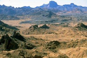 Vue sur le massif volcanique de l'Assekrem