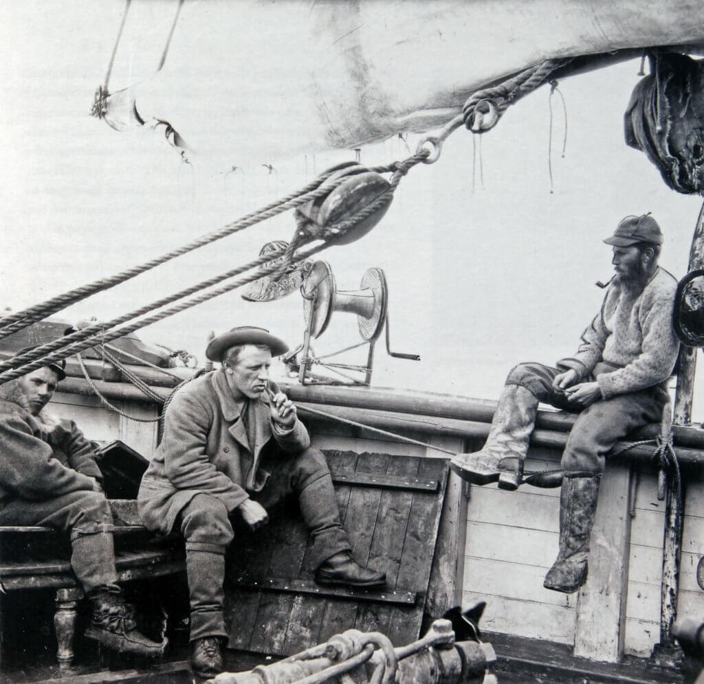 Nansen sur le pont arrière du Fram