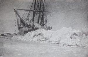 Le Fram après les pressions des glaces de janvier 1895.