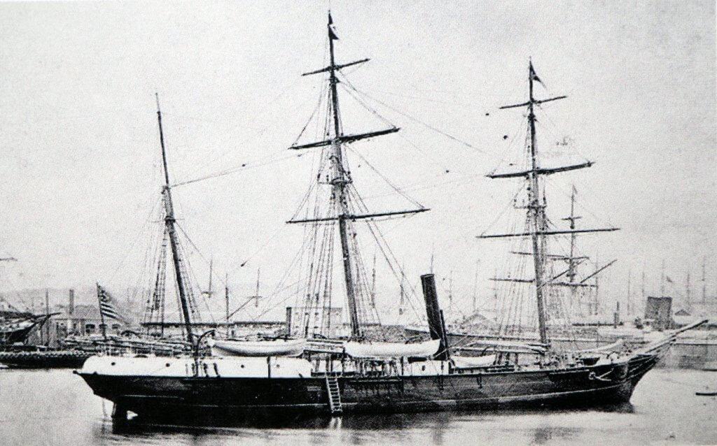 La Jeannette peu avant son départ de San Francisco en juillet 1879
