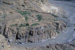 Sortie de la gorge de Shimshal. 16 juillet 1995.