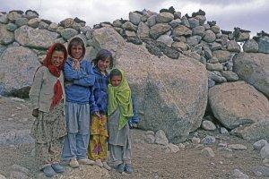 Enfants au village de Shuwari - 23 juillet 1995.