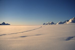Sur le glacier Habets - 2 Mai 1997.