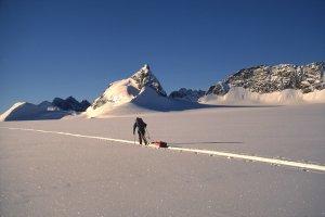 Sur le glacier Habets - 1ér Mai 1997.