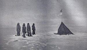 Les Norvégiens au Pôle Sud.