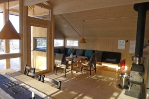Intérieur du refuge de Veslefjellhytta - 13 Février 2020.