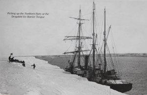 Le Nimrod accosté à la Barrière du glacier Drygalski récupère l'équipe du PSM - 4 février 1909.